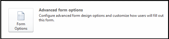 Form options