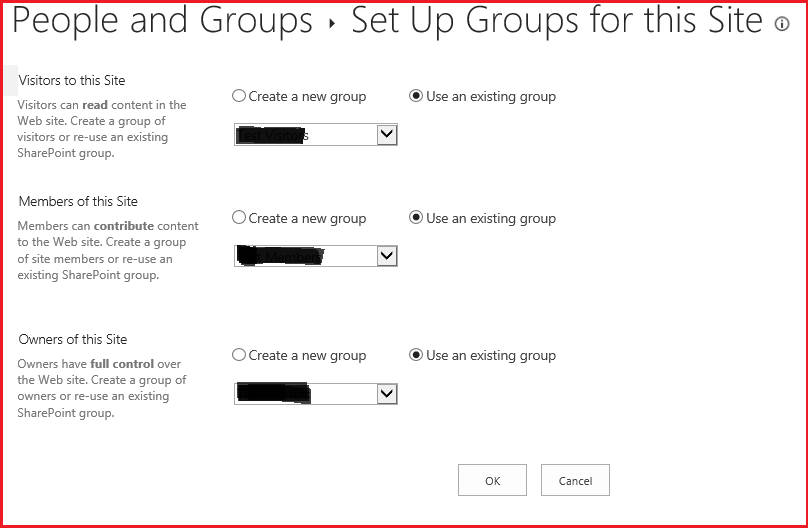 Default SharePoint groups - permsetup.aspx