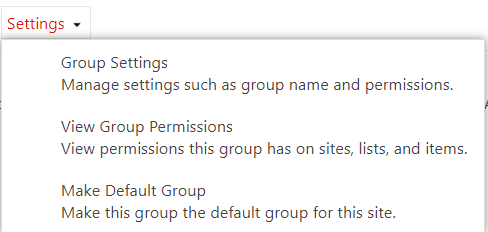 Group settings